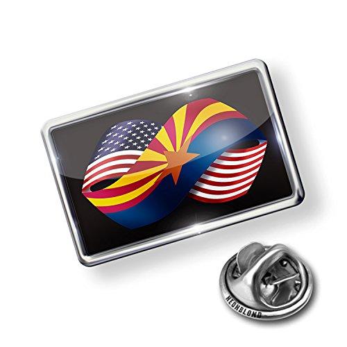 Arizona Epoxy - Pin Friendship Flags USA and Arizona region America (USA) - NEONBLOND