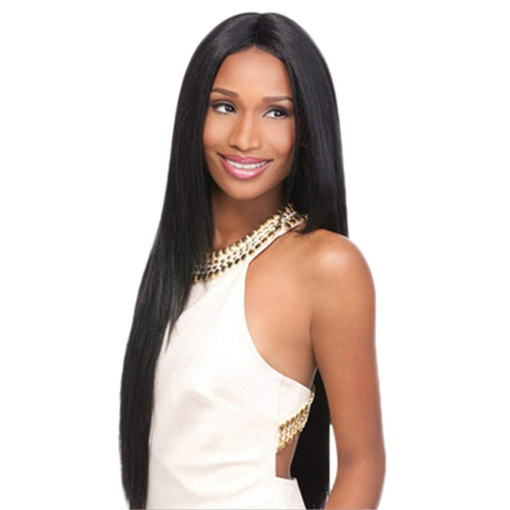 2019 Ladies Brazilian Long Straight Full Wigs 80CM Natural Black Hair Fiber Wig Heat Resistant Fiber Wig for Cosplay,Party&Daily Use Costume Wig