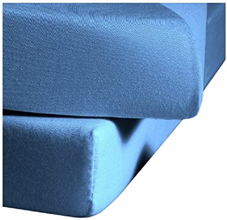 100x200 cm Colore: Blu Oltremare 6561 Lenzuolo in Jersey con Angoli Elasticizzati Fleuresse 1212 Fb