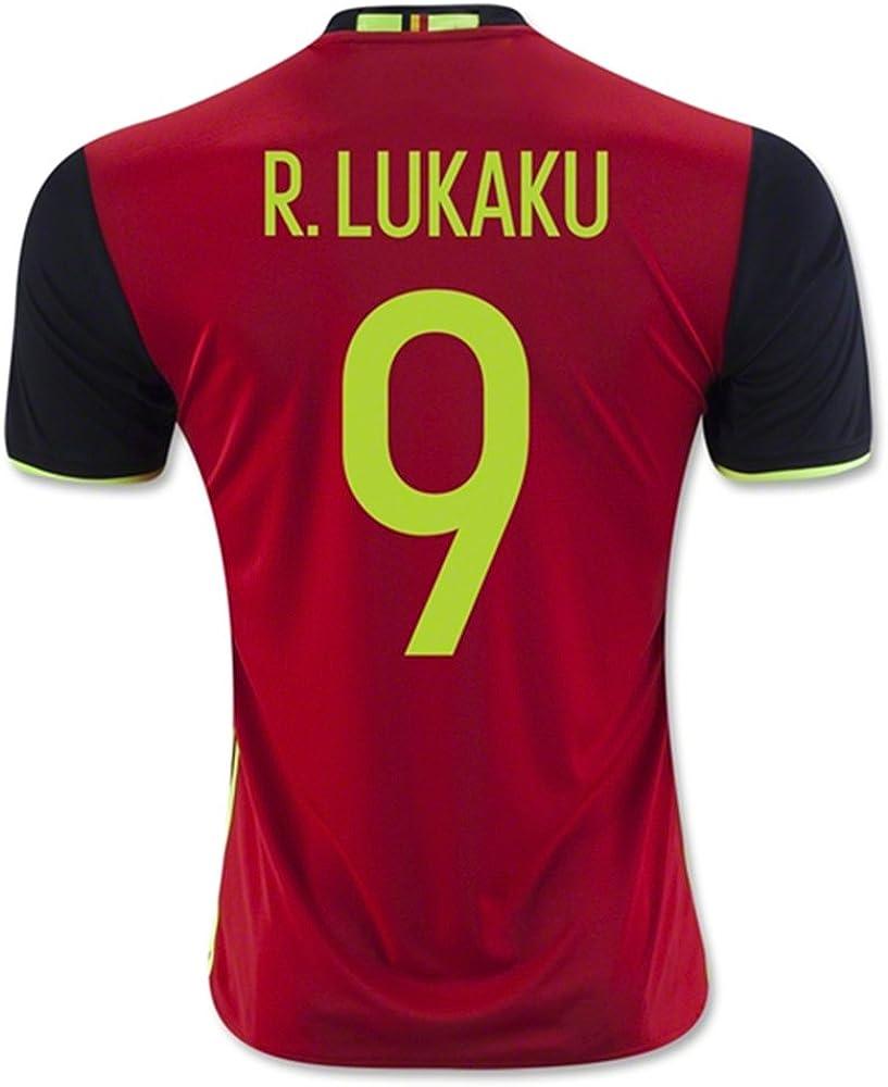 TXNBM Belgium 2016 9 R LUKAKU Home Soccer Jersey