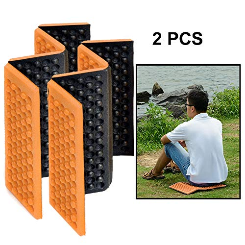 WAN Xiang KA Outdoor Accessories 2 PCS Portable Folding Mobile Cellular Massage Cushion Outdoors Damp Proof Picnic Seat Mats EVA Pad(Green) Used for Outdoor (Color : Orange)