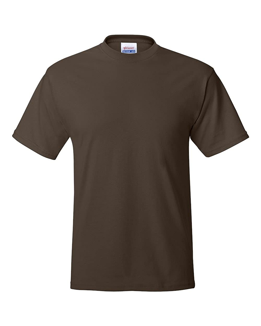 DARK CHOCOLATE 2XL - Hanes 52 oz 50//50 EcoSmart T-Shirt Style # 5170 - Original Label