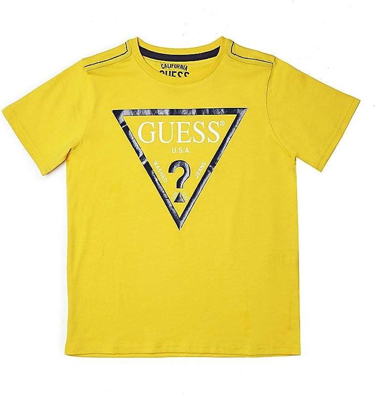 Guess - Camiseta de Media Manga Amarilla para niño Gialla 8 años: Amazon.es: Ropa y accesorios