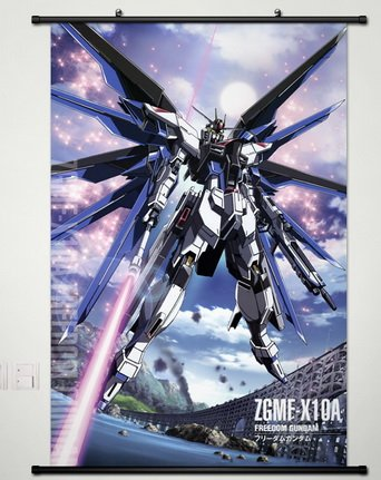 Wall Scroll Poster Fabric Painting For Anime Gundam Seed Freedom Gundam L