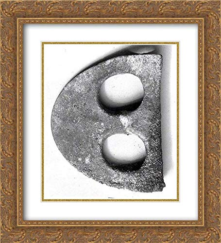 Middle Bronze Age Period - 20x22 Gold Ornate Frame and Double Matted Museum Art Print - Fenestrated Axe Blade ()