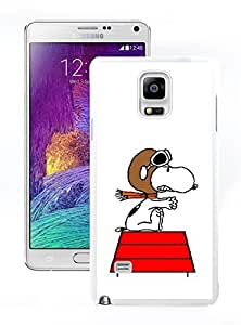 New Unique DIY Antiskid Skin Case For Samsung Note 4 snoopy (2) Samsung Galaxy Note 4 White Phone Case 402