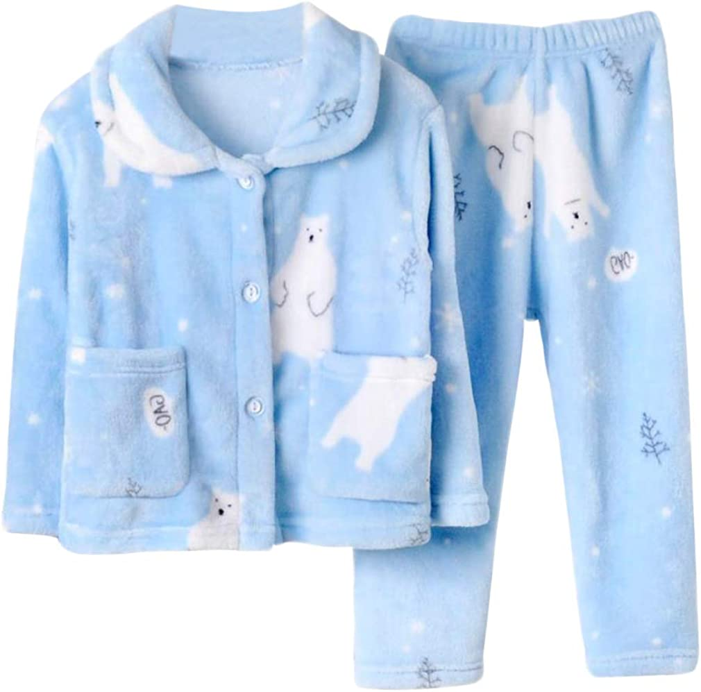 DEBAIJIA Bambino Abbigliamento Casa 2-12T Bambini Biancheria da Notte Infante Pigiama Unisex Indumenti Notte Flanella Sleepwear