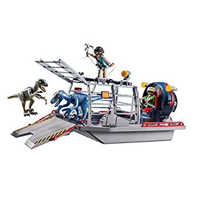 PLAYMOBIL Enemy Airboat with Raptor Building Set: Toys & Games
