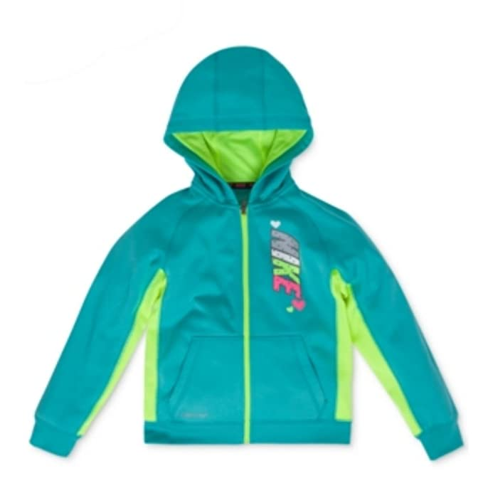 1ed64fcff9 Nike Toddler & Little Girls Teal Blue Therma-Fit Hoodie Zip Front Sweatshirt  6X
