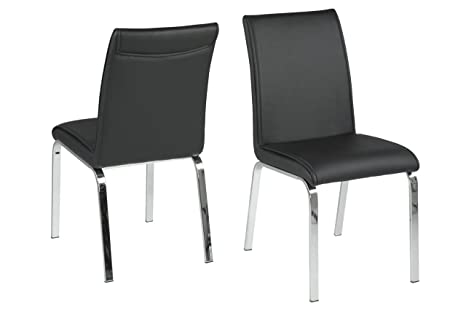 Sedie Schienale Alto Ecopelle : Fads homestyle leonora nero ecopelle sedie con schienale alto e