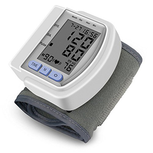 IKRR Digital home Automatic Wrist Blood Pressure Pulse Sphygmomanometer and tonometer Monitor Heart Beat Meter