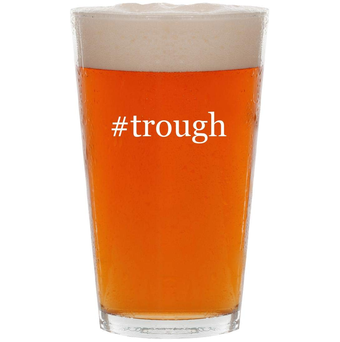 #trough - 16oz Hashtag Pint Beer Glass