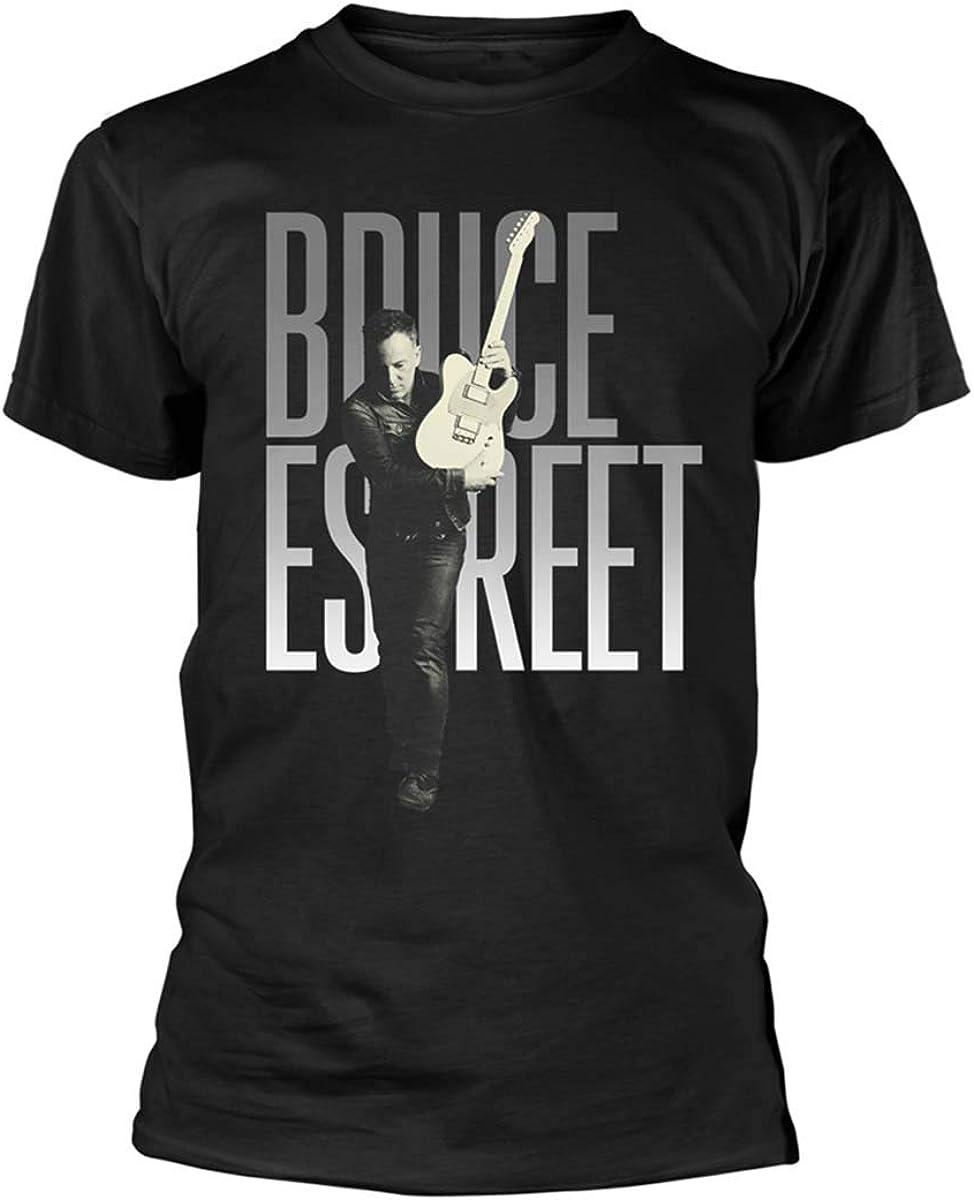 Bruce Springsteen E Street Band Telecaster Pose offiziell M/änner T-Shirt Herren
