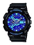 Casio Men's GA110HC-1A  G-Shock Black/Blue/Purple Multi-Function Digital Watch