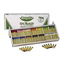 Crayola Oil Pastels Classpack, 12 colores opacos brillantes (336Count) Pasteles de formas hexagonales grandes, ideales para niños de 3 años en adelante, no tóxicos, combinables, fuertes, duraderos, a granel, paquete de aula de valor a granel
