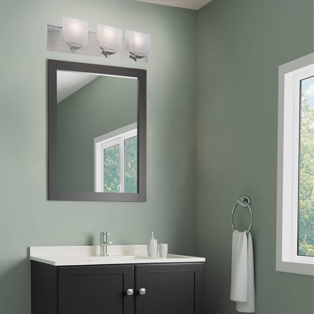 Satin Nickel Design House 506493 Syrah 3 Light Vanity Light