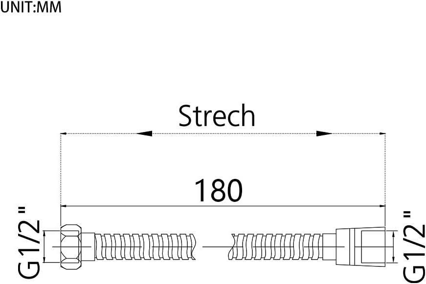 Plata 1.8 m GRIFEMA G851-18 Manguera ducha Flexo de Acero
