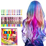 BATTOP Bright Hair Chalk Set-Metallic Glitter Hair chalk comb for Kids and Party (24 Pcs) (12 Pcs-Pen)
