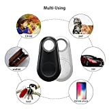 MACYWELL Key Finder, Item Finder,Phone Finder,Bluetooth Tracker with 2 Replaceable Battery,iOS & Android Compatible- 4 Pack