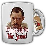 Geh doch in die Zone! Alfred Tetzlaff ein Herz und eine Seele Alfred Humor Spaß Fun Portrait Foto - Tasse Becher Kaffee #9945
