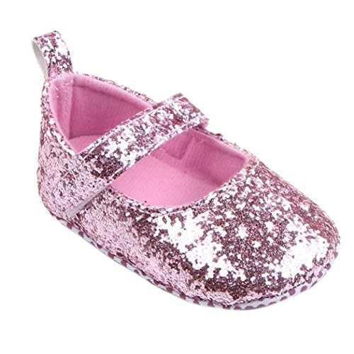 Baby Soft Sole Crib Shoes,Toponly Toddler Girl Soft Sole Crib Shoes Sequins Sneaker Bling Shoes (fashion Pink, 11) (Sleeve Fur Faux Boot)