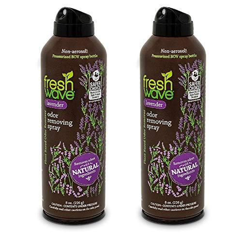 Fresh Wave Lavender Odor Removing Spray, Non-Aerosol, Fine Mist, 8 oz. (Pack of 2) ()