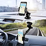 Mpow Upgrade Dashboard Car Phone Mount,Adjustable Windshield Holder Cradle with Strong Sticky Gel Pad for iPhone X/8/8Plus/7/7Plus/6s/6P/5S, Galaxy S5/S6/S7/S8, Google, Huawei etc
