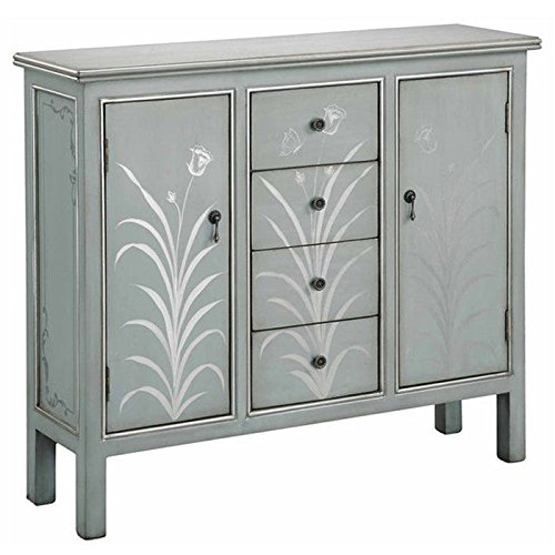 Stein World Furniture Selina Cabinet, Silver Blue (Dining Room Painted Cabinet)