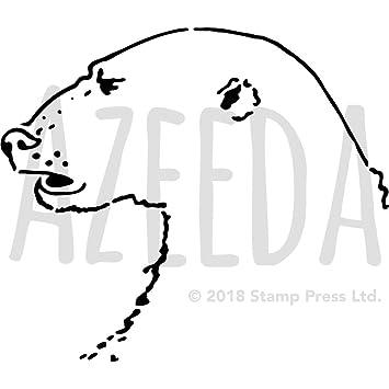 a3 polar bear face wall stencil template ws00021990 amazon co