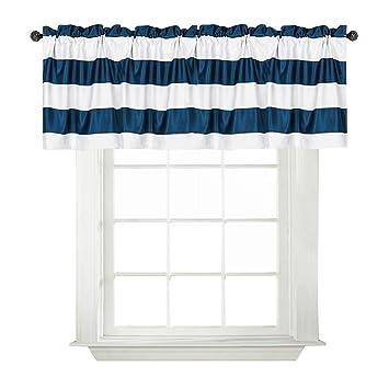 Amazoncom Turquoize Rod Pocket Curtain Valance Kitchen Blackout