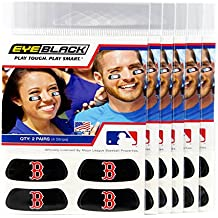 (24 Strips) Eye Black - Boston Red Sox MLB Eye Black Anti Glare Strips, Great for Fans & Athletes on Game Day