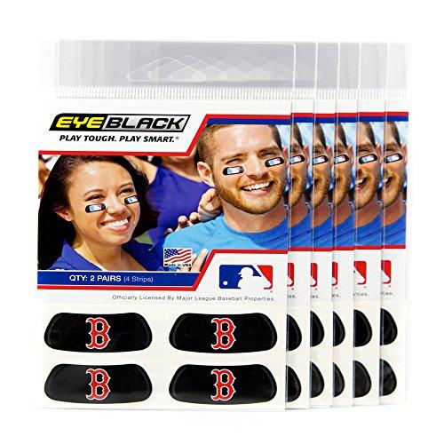 (24 Strips) Eye Black - Boston Red Sox MLB Eye Black Anti Glare Strips, Great for Fans & Athletes on Game Day -