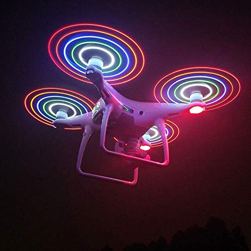 Wikiwand LED Flash CW CCW Propellers Props Part for Phantom 4/4 Pro/Adv/ RC Drone by Wikiwand (Image #3)