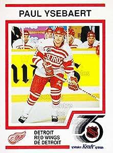 Paul Ysebaert Hockey Card 1991-92 Kraft ( Red Backs ) #46 Paul Ysebaert