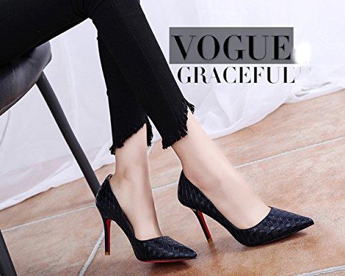 pumps Fashion nero Hem Tip 37 Summer Pompe Stiletto Stiletto RBB g07qxHg