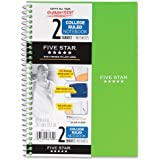 Five Star Spiral Notebook, College Ruled, 2 Subject, 6 x 9.5 Inches, 100 Sheets, Assorted Colors (06180)