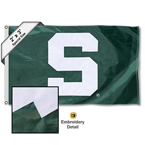 College Flags and Banners Co. Michigan State Spartans 2x3 Foot Embroidered ()