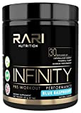 RARI Nutrition - INFINITY 100% Natural Pre Workout Powder for Energy, Focus, and Performance - No Creatine – No Artificial Flavors or Colors - Vegan and Keto - 30 Servings - Blue Raspberry