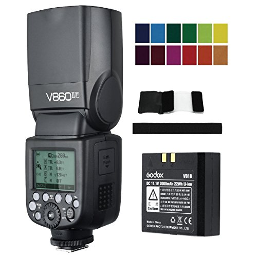 Godox V860II-F E-TTL HSS 1/8000s 2.4G GN60 Li-ion Battery Camera Flash speedlite for Fujifilm Camera X-Pro2 X-T20 X-T1 X-T2 X-Pro1 X100F by Godox