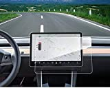 """Model 3 Center Screen Protector Model 3 Model Y 15"""" Center Control Touchscreen Car Navigation Touch Screen Protector Tempered Glass 9H Anti-Scratch and Shock Resistant for Model 3 Screen Protector: more info"""