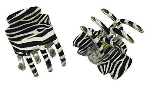 zebra hair clips - 9