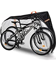 FreeDouble Bike Cover for 2 Bikes: 420D Heavy Duty Ripstop Material Offers Constant Protection for Mountain Bike, Waterproof Outdoor Bike Storage for All Types of Bicycles