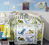 SoHo Dinosaur Story Baby Crib Nursery Complete Set Including Diaper Bag and Baby Carrier