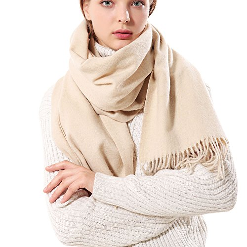 Womens Thick Soft Cashmere Wool Pashmina Shawl Wrap Scarf - Aone Warm - Scarf Thin Wool Wrap