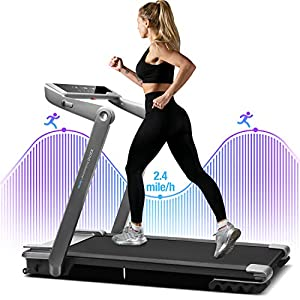 WEKEEP I1 Folding Portable Treadmill Compact Walking Running Machine for Home Office Workout Electric Treadmills for Small Spaces Treadmills with LED Display Device Holder
