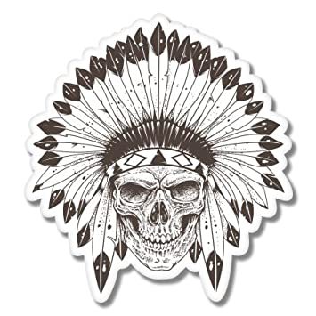 Indian Skull Sticker