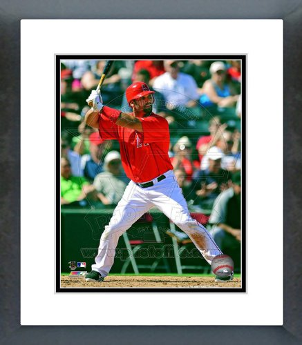 LA Angels Albert Pujols 2012 Action Framed Picture 8x10