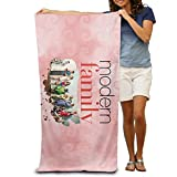 Mooy Modern Family Adult Colorful Beach Or Pool Hooded Towel 3251 Inches