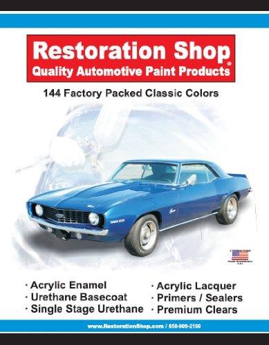144 restoration shop color chart auto car paint chips for Car paint shop prices