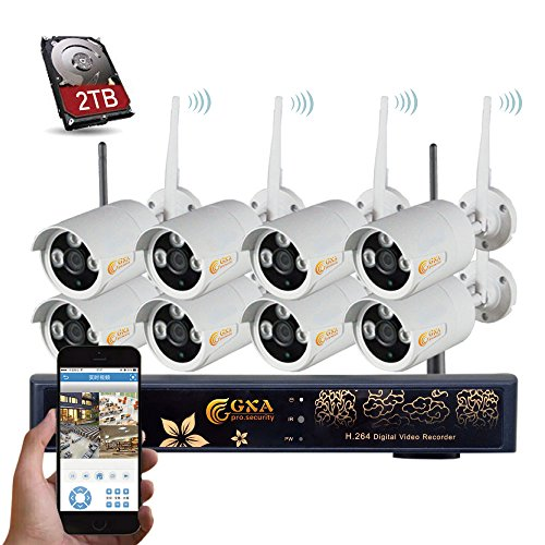Negocio en casa sistema de cámara de seguridad de vídeo, con 8 pcs 960P Bullet HD Wireless Cámaras IP impermeable Day &...